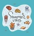 ocean exotic card vector image vector image