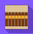 pack of cigar icon flat style vector image