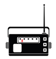 radio silhouette vector image vector image