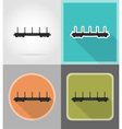 railway transport flat icons 02 vector image