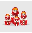 Russian dolls or matryoshka dolls vector image vector image