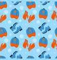 seamless pattern with clothes and shoes vector image