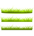 set a variety of grass on white background vector image