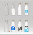set of of glass bottles with vector image vector image