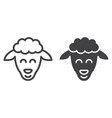 sheep line and glyph icon easter and holiday vector image vector image