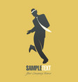 silhouette man dancing jazz-02 vector image vector image