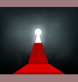 staircase with a red carpet vector image