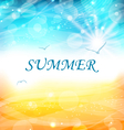 Summer Holiday Background Glowing Wallpaper vector image vector image