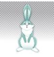 surprised cartoon rabbit funny bunny cute hare vector image