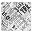 Symptoms of diabetes Word Cloud Concept vector image vector image