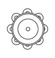 Tambourine icon in outline style vector image vector image