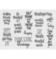 Thanksgiving lettering typography set