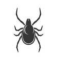 tick sign on white background bug icon vector image