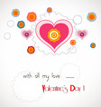 Valentine with all my love vector image vector image