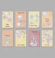 vintage floral cards vector image