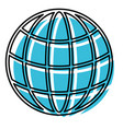 watercolor silhouette of world globe icon vector image vector image