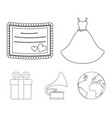 wedding dress invitation gift gramophone vector image vector image