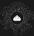 White jewish sweet bakery icon isolated on grey