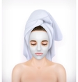 Young woman with face mask vector image vector image