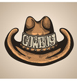 Cowboy hat isolated foe design vector image