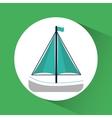 Sailboat ship nautical marine icon graphic vector image