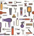 seamless pattern - barbershop vector image