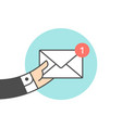 icon of new mail envelope vector image