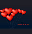 3d heart balloon floating in air valentines day vector image