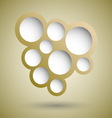 abstract gold speech bubble background vector image