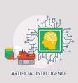artificial intelligence conceptual design vector image