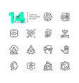 artificial intelligence - set line design style vector image