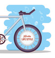 bicycle healthy lifestyle set icons vector image vector image