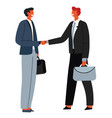 business partners at meeting male characters vector image