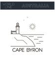 Cape Byron Australia vector image vector image