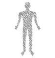 chain man figure vector image vector image