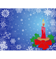 Christmas greeting card in blue hues vector image vector image