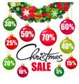 christmas sale poster vector image