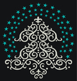 christmas tree star vector image vector image