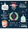 Christmas with Typographic Background vector image vector image