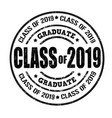 class of 2018 stamp vector image vector image
