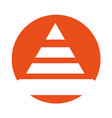 construction cone isolated icon vector image vector image