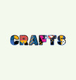 crafts concept word art vector image vector image