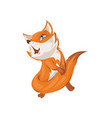 cute colorful red fox is sing a new popular song vector image vector image