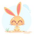 cute funny cartoon rabbit or bunny vector image