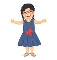 Cute Girl Huge vector image vector image