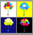 cute heart shaped balloon bouquet vector image