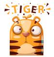 cute tiger character - cartoon vector image