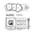 doodle portfolio wireframe vector image vector image