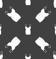 dress icon sign Seamless pattern on a gray vector image