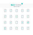 easy icons 34e file types vector image vector image